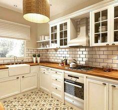 Kitchen Decor, Kitchen Design, My Dream Home, Kitchen Cabinets, Living Room, Kitchens, King, Interiors, Decoration