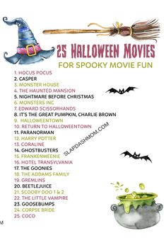 Halloween Movies To Watch, Halloween Movie Night, Halloween 2020, Holidays Halloween, Holiday Movies, Best Family Halloween Movies, Best Fall Movies, Halloween Things To Do, Facts About Halloween