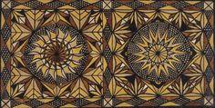 """Traditional Samoan Tapa-board Painting"" by Dixie Chrichton Samasoni, 1974, ...  damontucker.com"