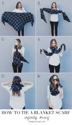 Merrick's Art // Style + Sewing for the Everyday Girl : FOUR WAYS TO TIE A BLANKET SCARF
