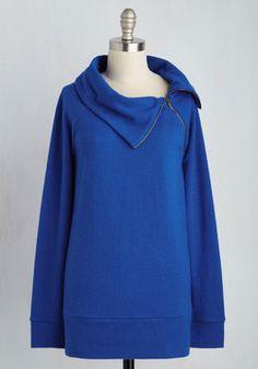 Stay Inn Sweater in Lapis