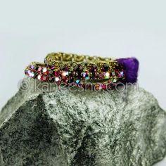 Multi Row Stretchable Antique Finish Fashion Bracelet