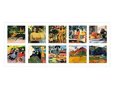 Alonline Art - Collage 10 Sea Woman Market Land by Paul Gauguin Wall Art Pictures, Print Pictures, Wall Stickers Murals, Vinyl Decals, Artwork For Living Room, Paul Gauguin, Collage Art, Framed Artwork, Cotton Canvas