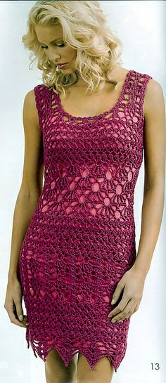 iNSPIRATION ONLY, pattern out of print Ravelry: Sleeveless Dress pattern by Doris Chan
