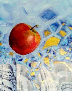 ebru sanatı (marbling art) by mai hatti Acrylic and marbling mix.