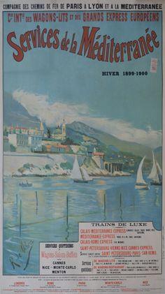 PLM - Services de la Méditerranée - 1900's -
