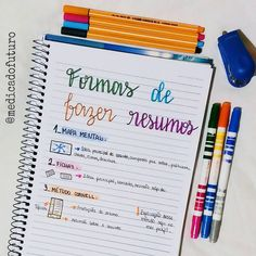 Reposted from - oii pessoal. Hoje eu venho mostrar pra vcs, 3 f. Reposted from Bullet Journal School, Lettering Tutorial, Study Organization, Student Planner, School Notes, English Study, Study Inspiration, Studyblr, Study Notes
