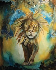 """lion king"" by Beatrice Gugliotta, Animals: Land, Nature, Painting Art Work, Lion, Age, Friends, Painting, Animals, Painting Art, Kunst, Photo Illustration"