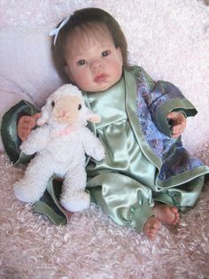 Lee Middleton ASIAN Chinese Sculpt REBORN Baby Girl Doll 3/4 Limbs OOAK Ethnic