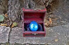 Blue Dragon Egg & Dragon Story in a Wooden Chest, Cosplay Prop Dragon Egg, Dragons Fantasy Art, Geek Gift Blue Dragons, Geekery, Drachen