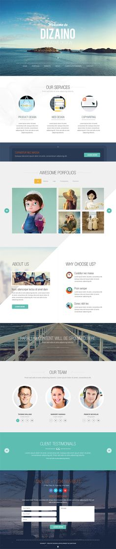 One Page Free PSD Template #webtemplates #freepsdtemplates #freewebtemplates #freebies #websitedesign