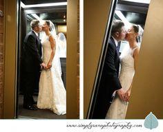Wedding Photo Ideas - Bride & Groom in Elevator