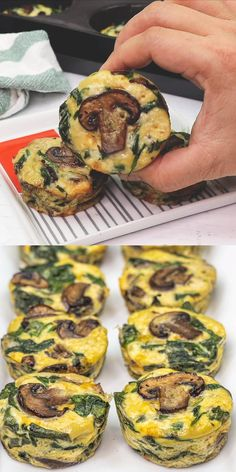 Completely gluten-free and low-carb is this healthy and delicious SPINACH QUICHE CUPS that everyone raves about. You can tweak the recipe to add your favorite vegetables! Healthy Quiche Recipes, Spinach Quiche Recipes, Easy Healthy Recipes, Gluten Free Recipes, Low Carb Recipes, Vegetarian Recipes, Easy Meals, Cooking Recipes, Healthy Low Carb Breakfast