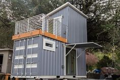 BOXED HAUS - Shipping Container House for sale on the Tiny House Marketplace. Here we have a complete 1 bedroom off grid container home. This is a smart