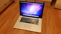 MacBook Pro 5.4  Mac OS X 10.6 Intel core 2 duo 2.54Ghz, 4GB DDR3 RAM, 250GB Hard drive, Nvidia Geforce 9400M graphics, DVD/CD-RW, Webcam, 5ghz wifi, Bluetooth, memory card reader, 15.4 inch HD screeb and 2 USB ports.  This macbook is in good condition apart from the top lid has a few scratches. Battery lasts an estimated 4 hours but we cannot include charger but be charged to 100% when collected.  Can get chargers off ebay for them from £15.  £340 or best offer.