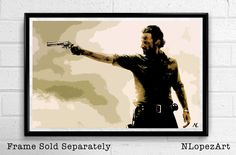 The Walking Dead Rick Grimes Pop Art Poster Print Size 11 x 17 for $15 + S&H. This order is printed on high quality 110lb card stock paper. Check it out at (https://www.etsy.com/listing/113199377/the-walking-dead-rick-grimes-pop-art?ref=shop_home_active_19)