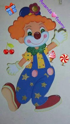 Roupinhas para cachorro com molde para imprimir: pet mania - Criatividade Decorazione Aula Decorazione Cucina iDee 🕊 Clown Crafts, Circus Crafts, Clown Party, Birthday Bulletin Boards, Birthday Board, Foam Crafts, Diy And Crafts, Crafts For Kids, Theme Carnaval