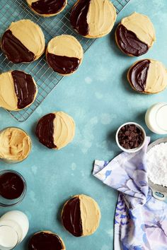 Peanut Butter Black and Tan Cookies  //  joy the baker