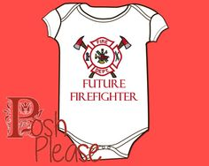 #firefighter #fireman #future #baby #boy #outfit #babyshower #gift #shower #firemanoutfit #firemanonesie #onesie #firefighter Future Firefighter Outfit Newborn Take Home Outfit by PoshPlease