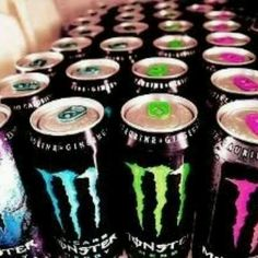 Monster Energy Drinks! Love low-carb, no-carb, and absolute zero!