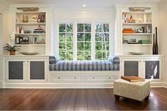 bancal de ventana en el salón