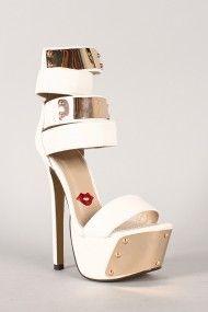 Eye Catcher Leatherette Ankle Cuff Stiletto Platform Heel #urbanog #summer #fashion #shoes