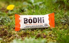 BODHI make paleo and protein bars with an unusual ingredient. Cricket  flour. So Robot Food gave them a brand identity and packaging worth  chirping about.