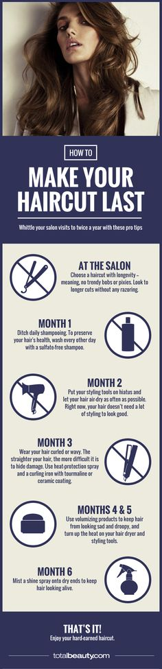 Six months without a trim? It's possible! Here, your step-by-step guide to having great hair for six months -- without setting foot in a salon.