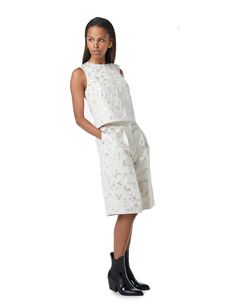 Mye Mini Fitted Skirt OUTLET ITEM Black /& White Abstract Floral Retro XS