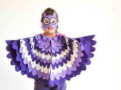 Une autre version du déguisement hibou en violet
