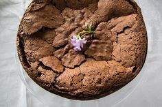 4 Ingredients: Pastured eggs, Dairy-free and Soy lecithin free Chocolate Chips, Coconut oil, and Coconut Sugar Paleo Sweets, Paleo Dessert, Gluten Free Desserts, Coconut Sugar, Coconut Oil, Grain Free, Dairy Free, Flourless Chocolate Torte, Soy Lecithin