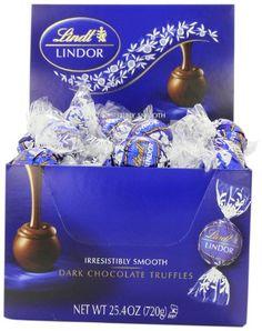 Lindt Lindor Truffles Dark Chocolate, Box from Lindt Dark Chocolate Candy, Chocolate Covered Fruit, Dark Chocolate Truffles, Types Of Chocolate, Chocolate Gifts, Chocolate Ganache, Melting Chocolate, Lindt Truffles, Lindt Lindor