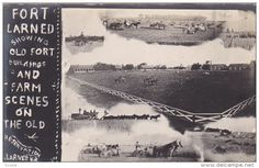 RP, Fort Larned Showing Old Fort Buildings And Farm Scenes On The Old Reservation, LARNED, Kansas, PU-1909 - Delcampe.com