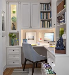 Home Office. Small Home Office Ideas. Convert a small space to a polished eye-catching and functional home office. targeting a classic yet modern style. Our motto here at O'lagio Small Space Office, Small Home Offices, Home Office Space, Home Office Design, Home Office Decor, House Design, Home Decor, Office Designs, Tiny Office
