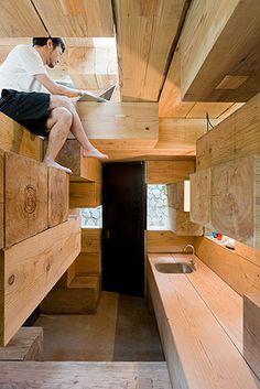 Final Wooden House Kumamura village Japan by Sou Fujimoto Architects. Photography Iwan Baan.