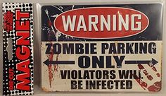 Warning Zombie Parking Only Die Cut Magnet Home or Auto -- Read more reviews of the product by visiting the link on the image.Note:It is affiliate link to Amazon.