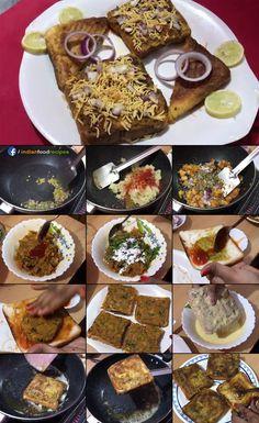 Paneer Recipes, Veg Recipes, Spicy Recipes, Sandwich Recipes, Indian Food Recipes, Vegetarian Recipes, Recipies, Cooking Recipes, Recipe Steps