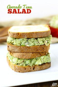 Avocado Tuna Salad - The Healthy Maven healthy tuna salad sandwich, tuna avocado salad, salad recipes, lunch option, tuna sandwich recipes, healthy tuna sandwich, healthy tuna salad recipe, camping salad