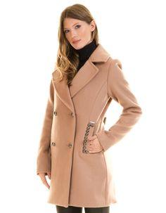 Guess camel coat URSOLA   BUYLEVARD