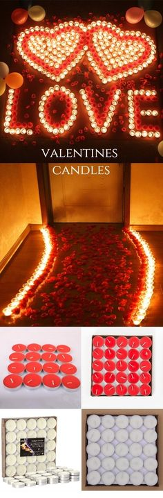 Valentines Love Confession Smokeless Scented Candles 50pcs #valentinesday