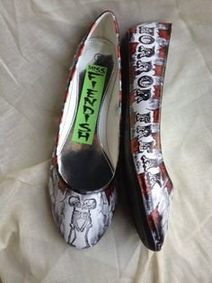 Horror Freak Show Shoes. £35.00, via Etsy.