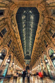 landscapelifescape:  Galleria Vittorio Emanuele II, Milan, Italy Ghosts of the gallery by Bojkovski