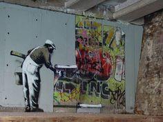 banksy - wallpaper