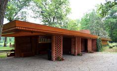 Melvyn Maxwell and Sara Stein Smith House/ Myhaven. 1949-50. Bloomfield Hills, Michigan. Frank Lloyd Wright. Usonian Style.