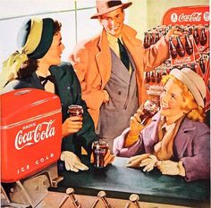 Detail from a Coca Cola ad from 1948