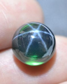 Green Star Sapphire Stone | Details about 11.98 CT 11x11 MM Green Star 6 Rays Sapphire Cabochon ...