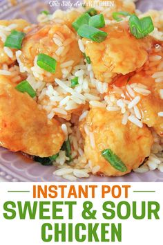 This Instant Pot Sweet and Sour Chicken is so easy to make and sure to become a family favorite!  Never order takeout again after making this delicious Instant Pot meal.  #instantpotdinner #sweetsourchicken Sweet Sour Chicken, Soul Food, Instant Pot, Main Dishes, Easy Meals, Dinner Recipes, Appetizers, Favorite Recipes, Posts