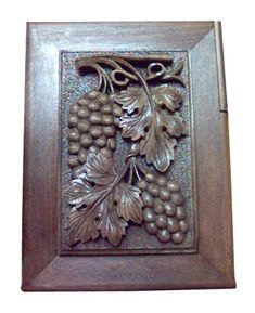 Wooden Carving - Grapes