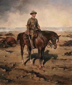 soldado del regimiento de cazadores de alcántara 14 de caballería en el desastre de anual