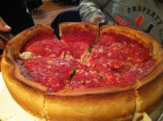 Chicago deep dish pizza from Giordano's on Rush street